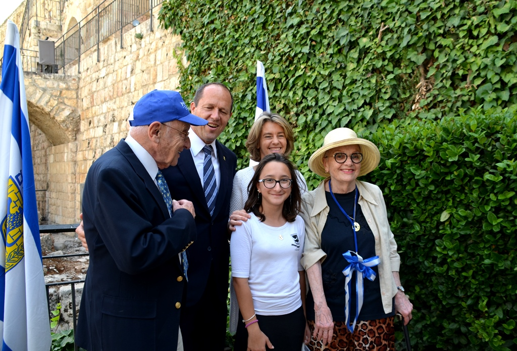 Mayor Nir Barkat and Beverly on Jerusalem Day in Tower of David.