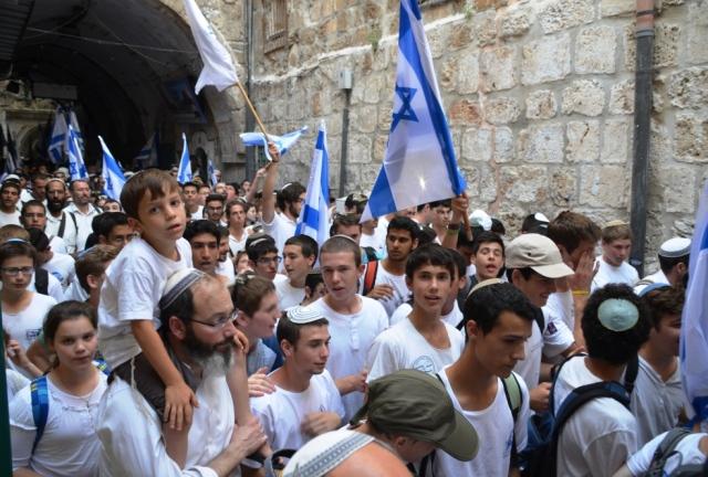 Flag Dance on Jerusalem Day