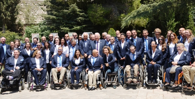 Official sendoff photo Paralympic team from Israel