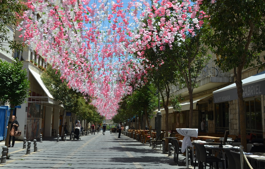 Jerusalem street decoration