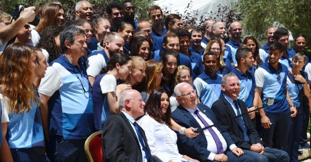 Israeli Olympic team sendoff in Israel