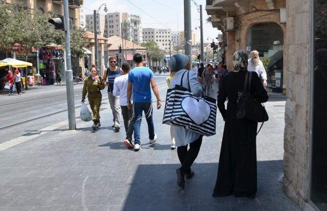 Jaffa Road near Sbarro bombing site