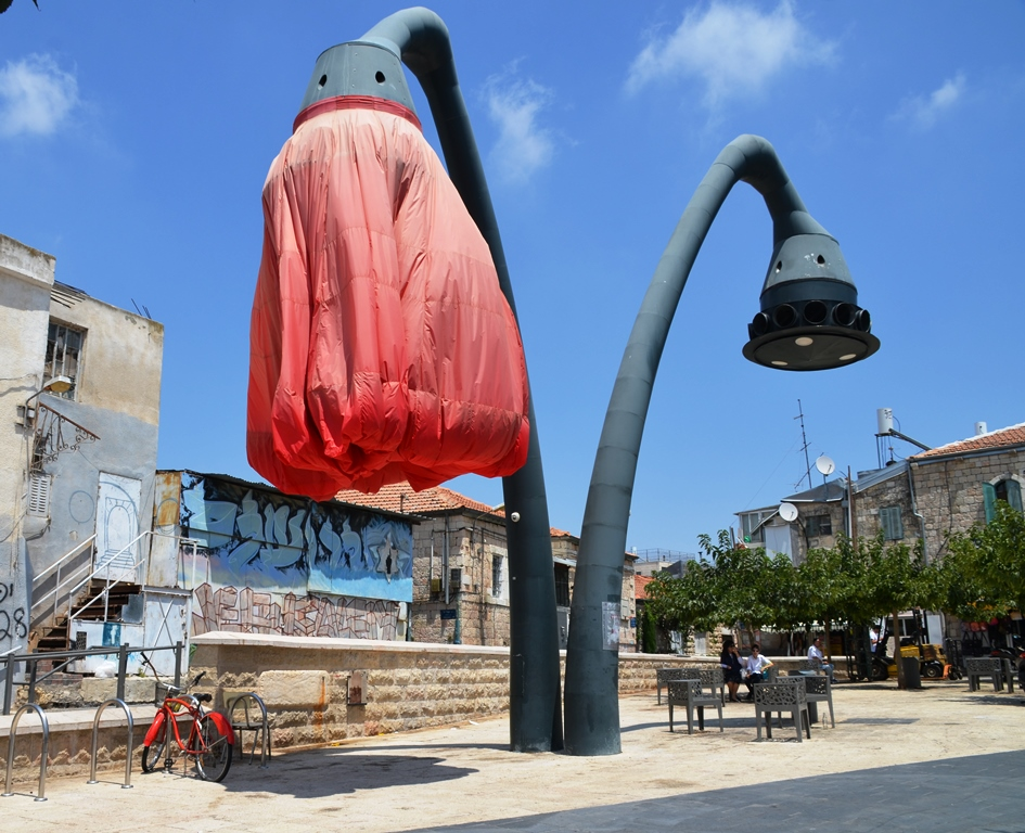Urban Installation Warda a mess again on Jaffa Road
