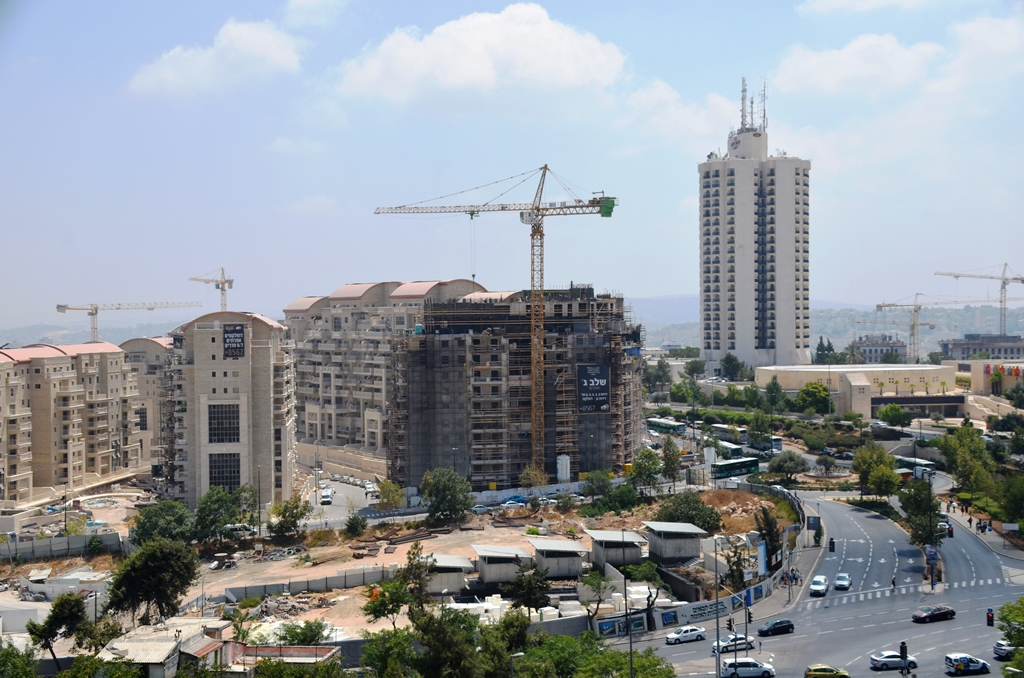 new construction from top of Jaffa Road Jerusalem
