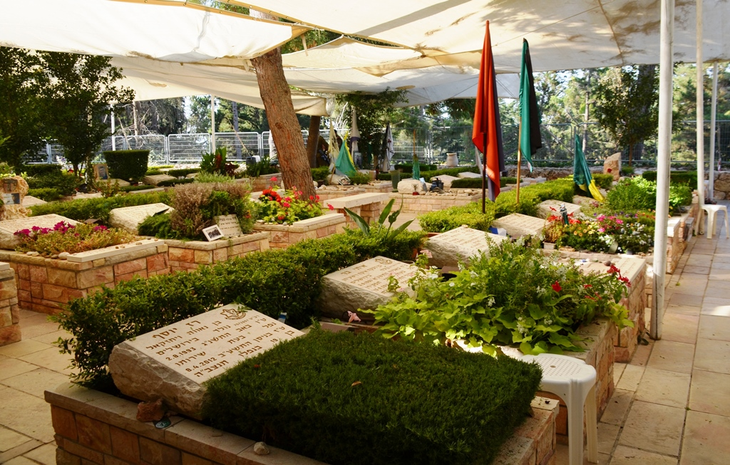 military cemetery graves at Har Herzl