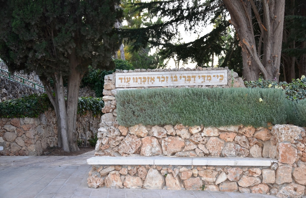Michael Levin LSC outside of Har Herzl cemetery