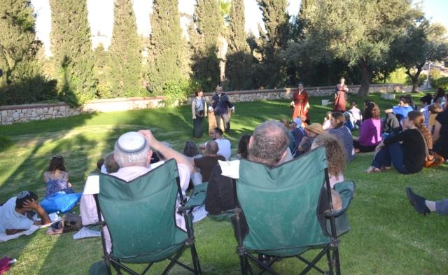 Macbeth in motion in Bloomfield Park Jerusalem Israel audience