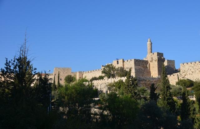 Yemin Moshe view of Tower of David Jerusalem