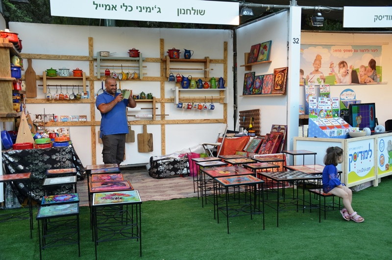 botth at international arts fair Jerusalem