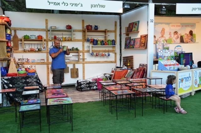 botth at international arts fair Jerusalem