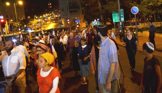 tisha BAv night in Jerusalem Israel