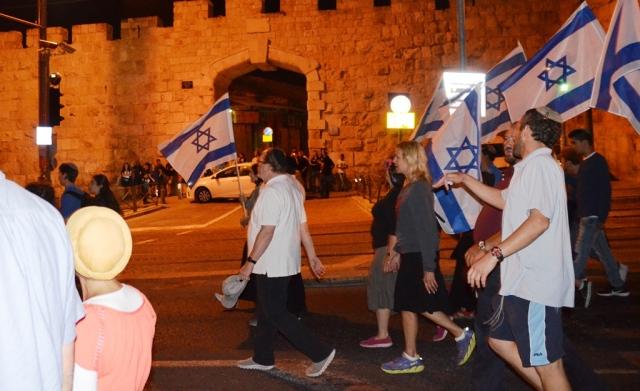 New Gate Old City night time Jerusalem israel