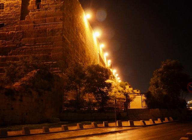 Night Old City Walls Jerusalem Israel