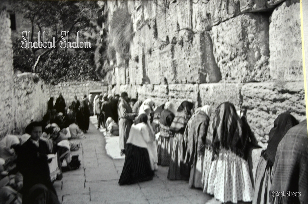 Shabbat shalom poster people praying at Wailing wall Elia classic photo