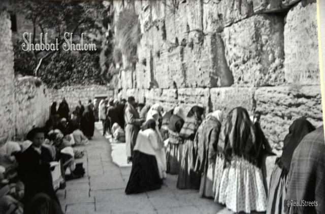 Shabbat shalom poster people praying at Wailing wall Elia classic photo