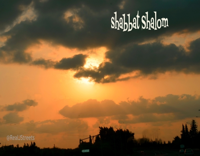 sunset poster for Shabat shalom