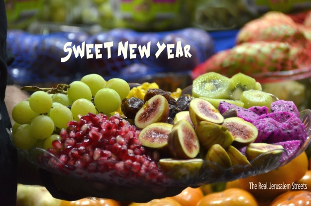 Sweet New Year poster for Rosh Hashanah